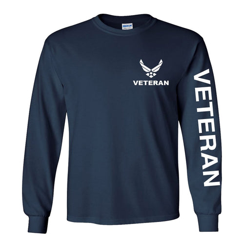 Air Force Veteran Long Sleeve Shirt - Navy Blue