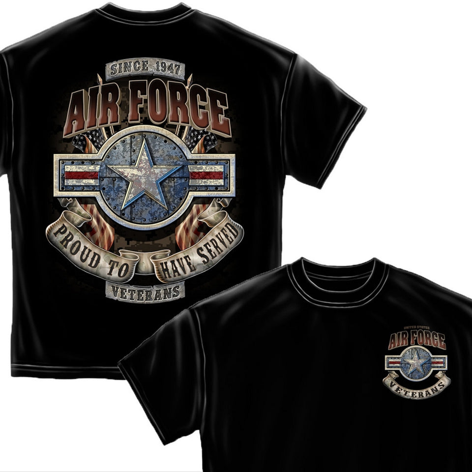 Air Force Veteran T-Shirt-Military Republic