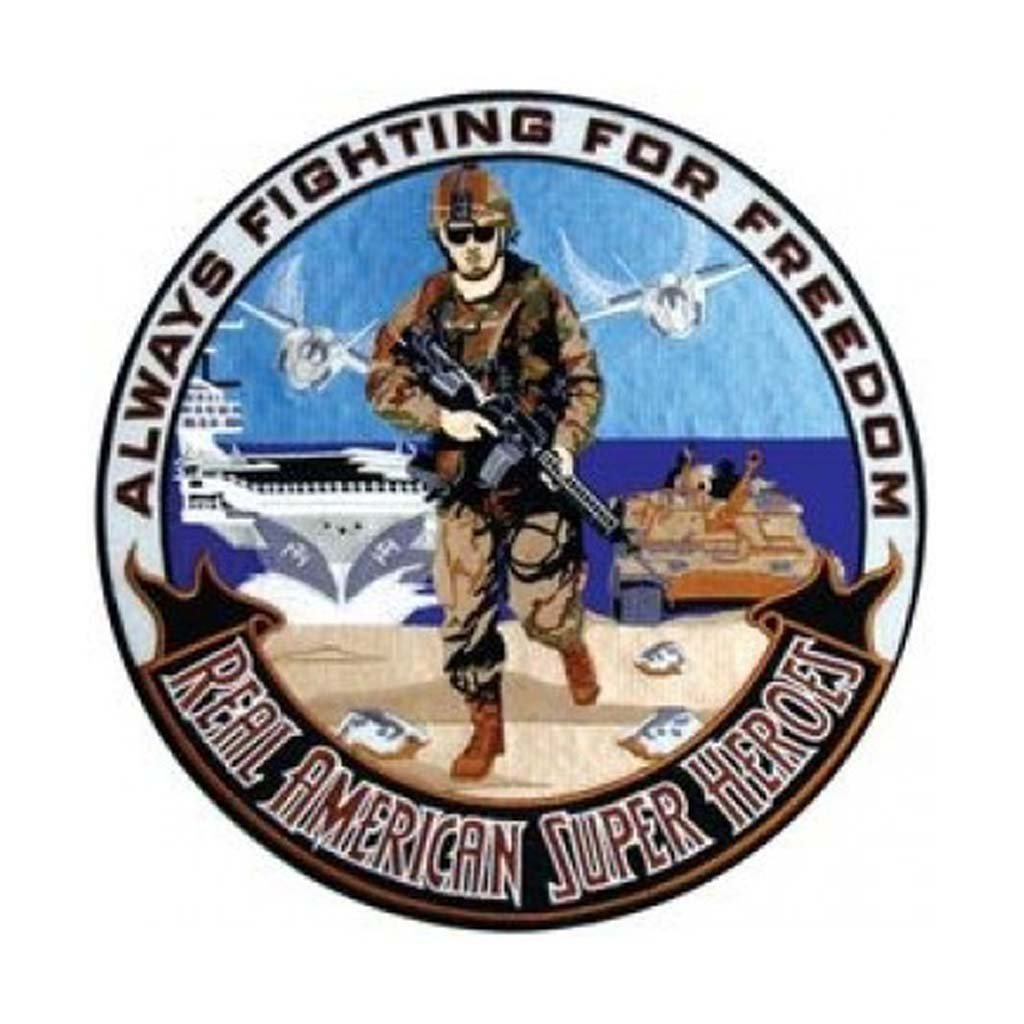 Always Fighting for Freedom Back Patch (12 inch)
