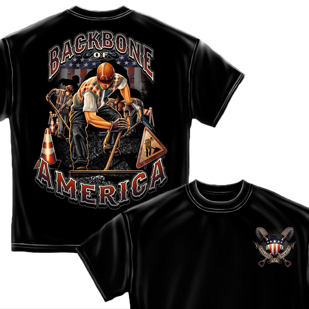 American Construction Worker T-Shirt-Military Republic
