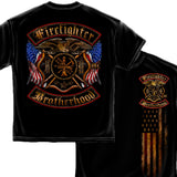 American Firefighter Brotherhood T Shirt-Military Republic