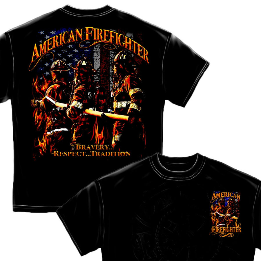 American Firefighter T Shirt-Military Republic