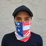 Distressed American Flag Neck Gaiter - Made in USA