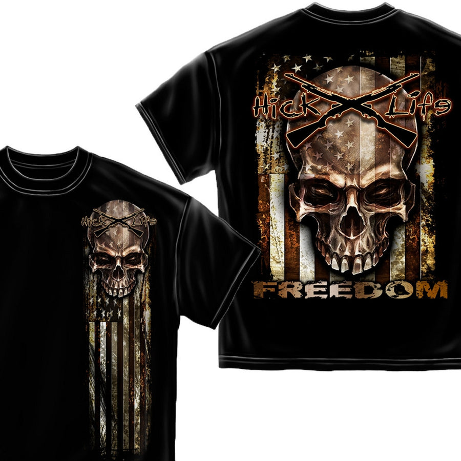 American Flag of Freedom T-Shirt-Military Republic