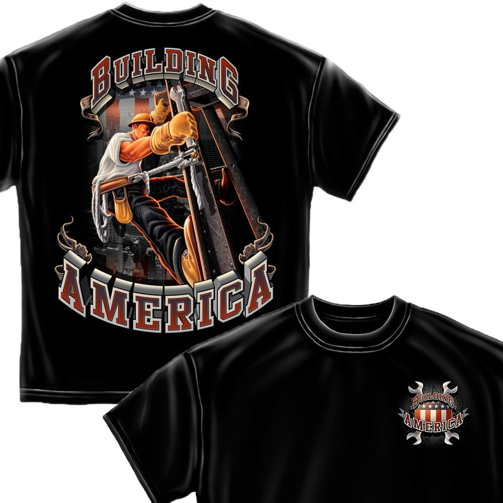 American Ironworker T-Shirt-Military Republic
