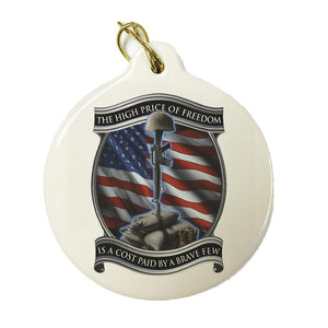 American Patriot Set Of 4 Christmas Ornaments