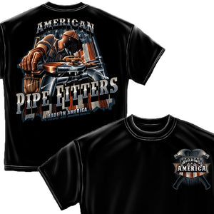 American Pipe Fitter T-Shirt-Military Republic