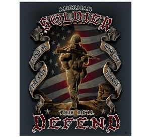 American Soldier Blanket-Military Republic