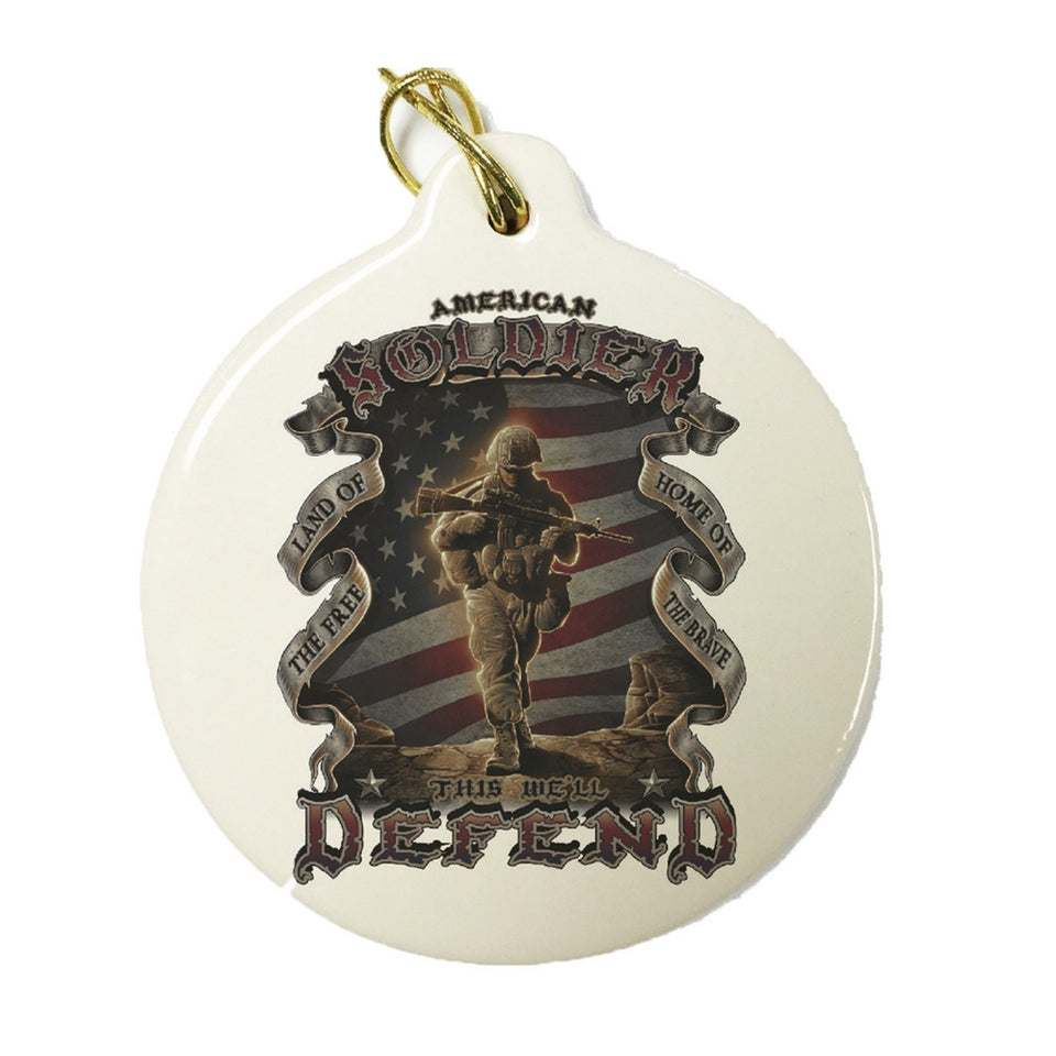 American Soldier Christmas Ornament-Military Republic