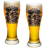 American Soldier Pilsner Glass Set-Military Republic