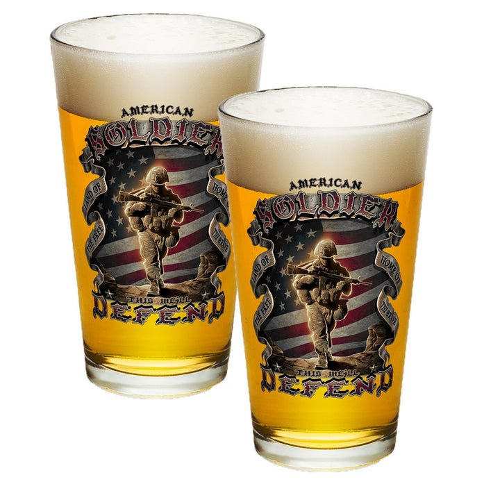 American Soldier Pint Glasses-Military Republic