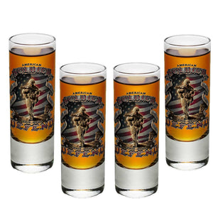 American Soldier Shot Glasses-Military Republic