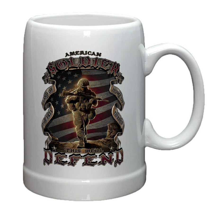 American Soldier Stoneware Mug Set-Military Republic
