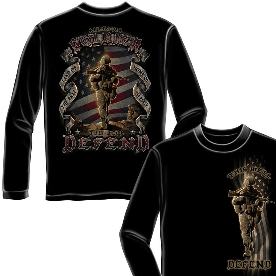American Soldier - This We Shall Defend Long Sleeve T-Shirt