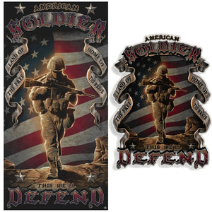 American Soldier Towel And Free Decal-Military Republic
