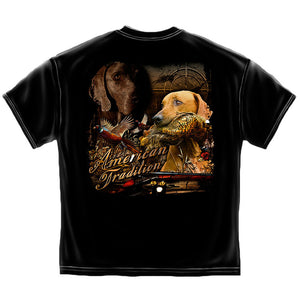 American Tradition Hunting Dogs T-shirt-Military Republic