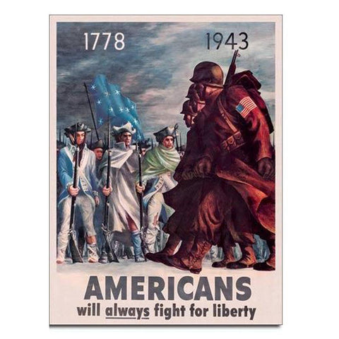 Americans - Fight for Liberty Tin Sign-Military Republic