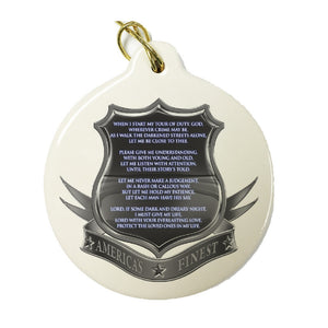 America's Finest Police Christmas Ornament-Military Republic