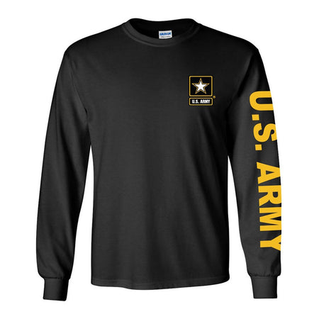 Army Black Long Sleeve Shirt