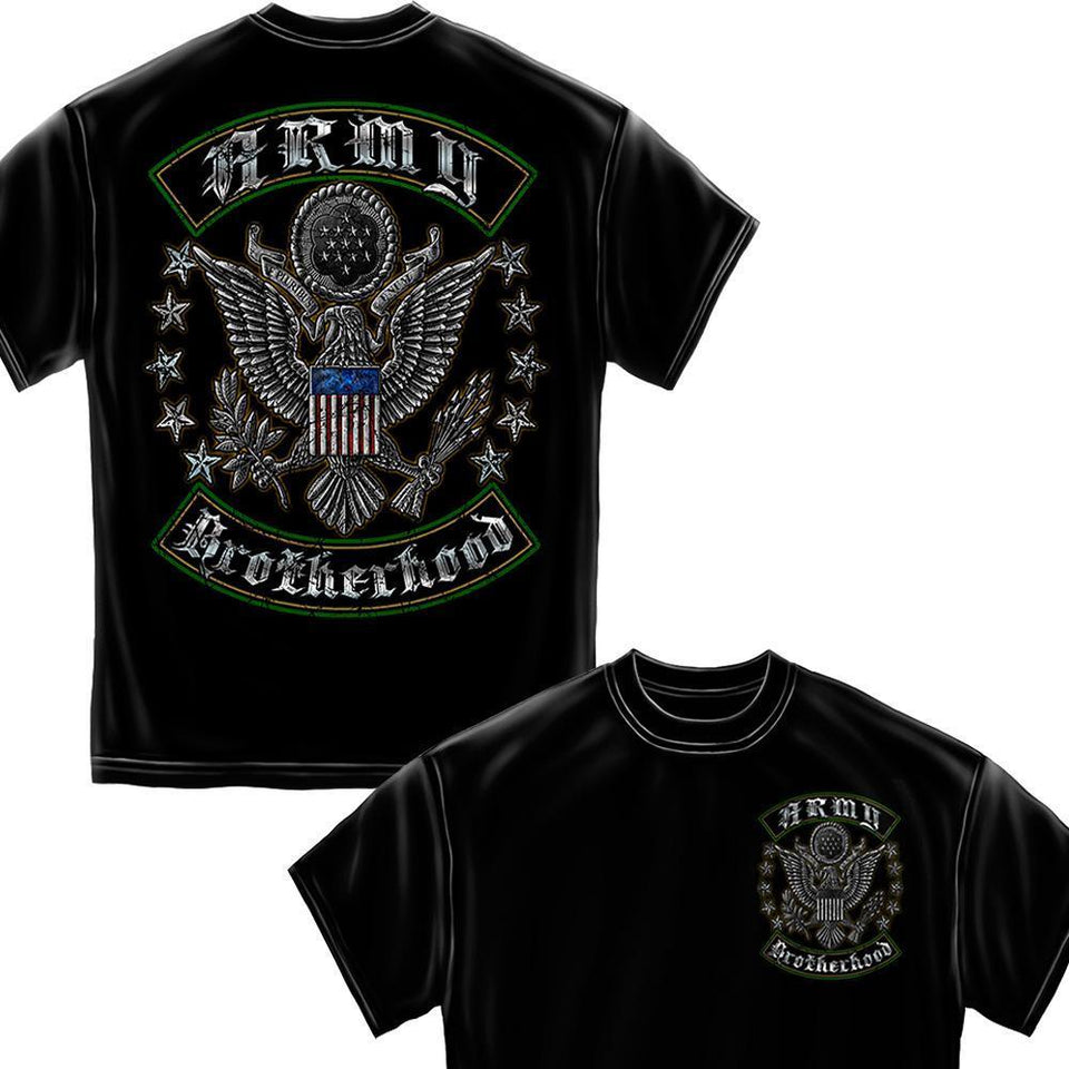 Army Brotherhood Foil T-Shirt-Military Republic
