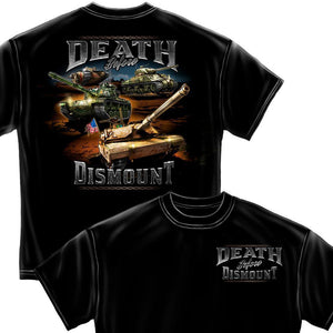 Army Death Before Dismount T-Shirt-Military Republic