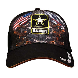 Army Double Flag Cap-Military Republic