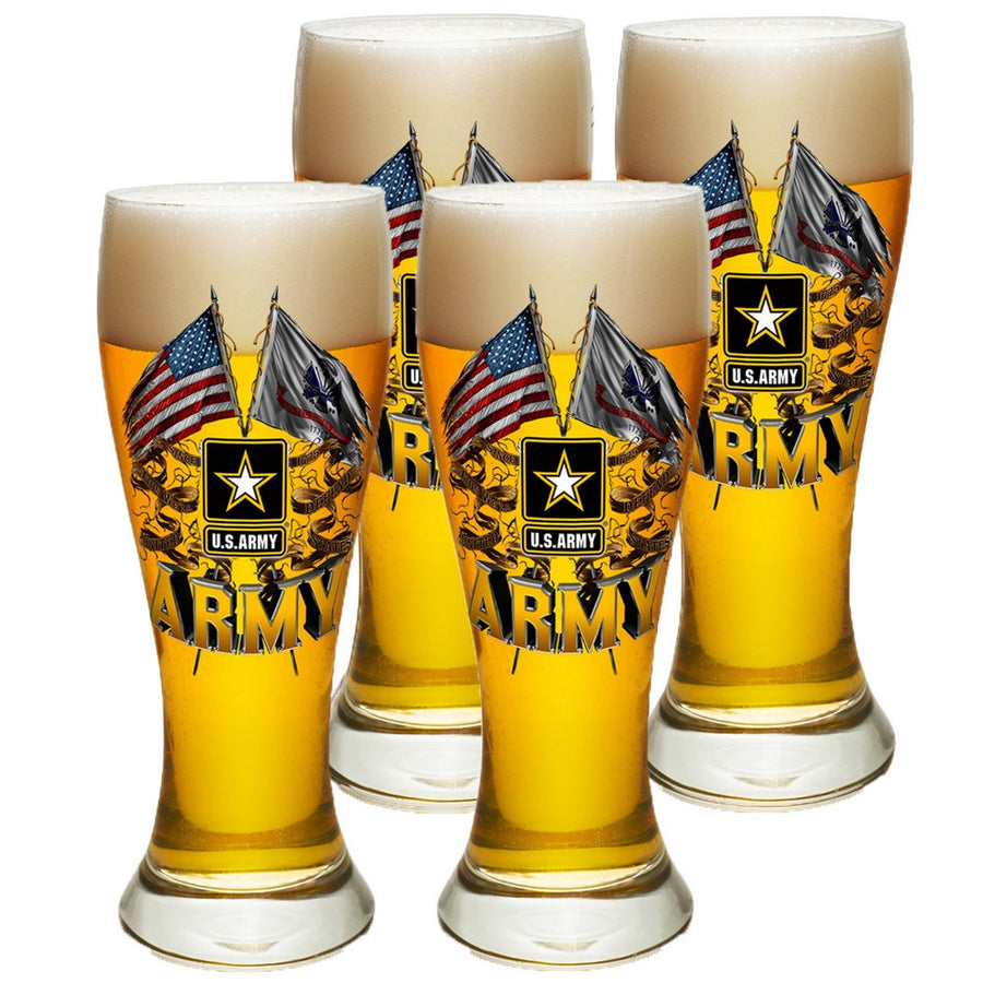 Army Double Flag Pilsner Glass Set-Military Republic