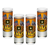 Army Double Flag Shot Glasses-Military Republic