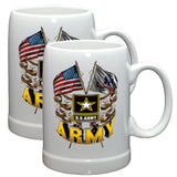 Army Double Flag Stoneware Mug Set-Military Republic