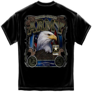 Army Eagle In Stone T Shirt-Military Republic