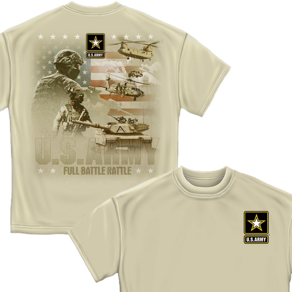 Army Full Battle Rattle T Shirt-Military Republic