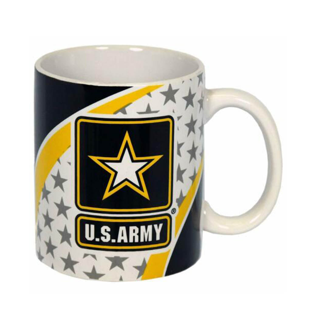 U.S. Army White Ceramic Mug with US Army Logo