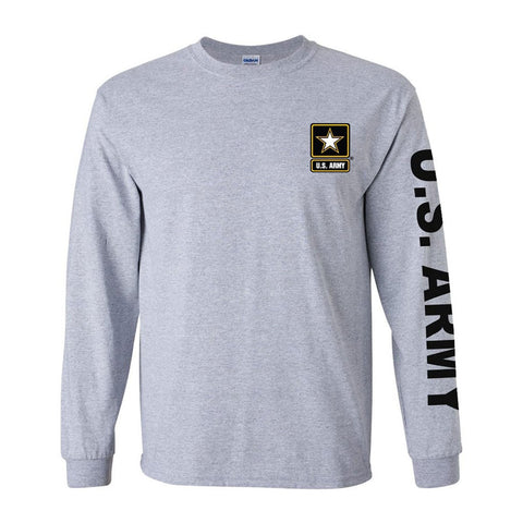 Army Sport Long Sleeve Grey Shirt