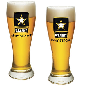 Army Star Pilsner Glass Set-Military Republic