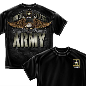 Army Strong Black T-Shirt-Military Republic