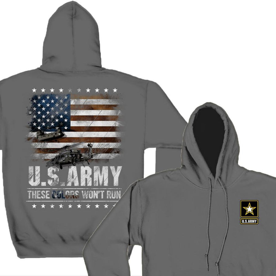 Army These Colors Won't Run Hoodie-Military Republic