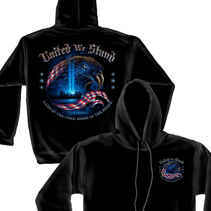 Army United We Stand with Eagle Hoodie-Military Republic