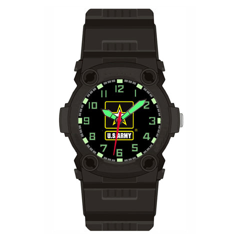 US Army Tactical Rubber Strap Wrist Watch