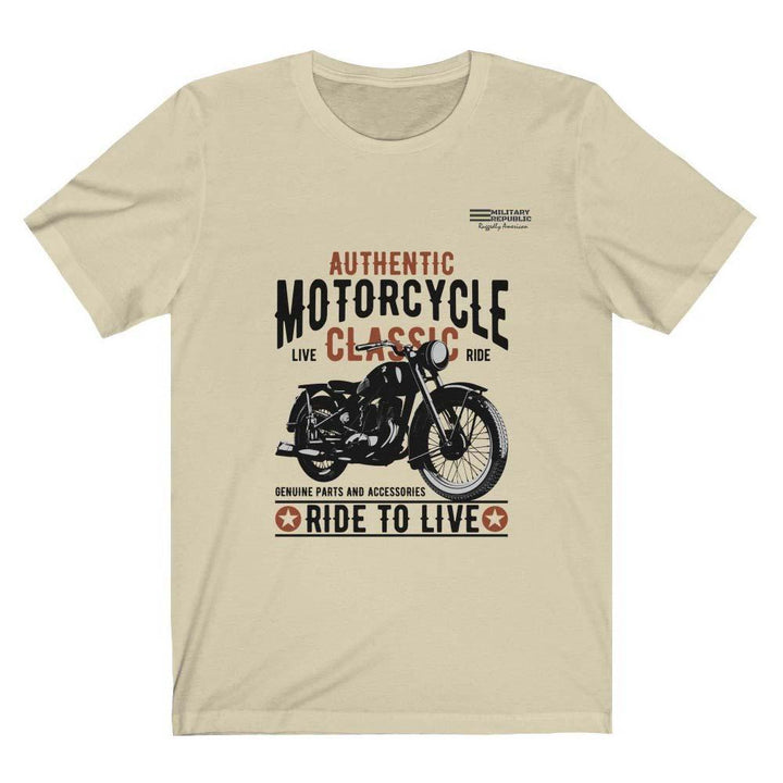 Authentic Motorcycle - Ride to Live T-shirt