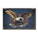 Live to Ride - Eagle Tin Sign-Military Republic