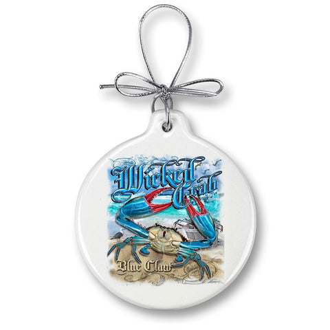 Blue Claw Crab Fishing Christmas Ornament