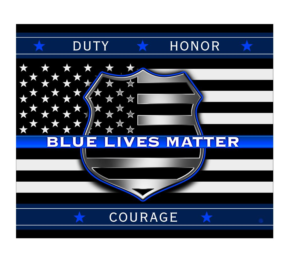 Blue Lives Matter Blanket-Military Republic