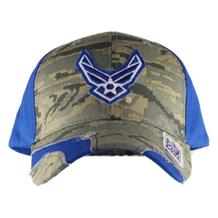 Blue Streak Stressed Camo U.S. Air Force Cap