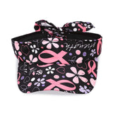 Breast Cancer Awareness Visor - Black with Pink Ribbon Pattern