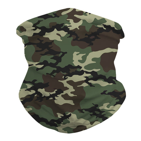 Camo Print Outdoors Motorcycle Face Mask Bandana Headwear