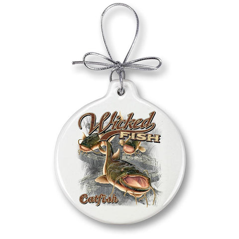 Catfish Fishing Christmas Ornament