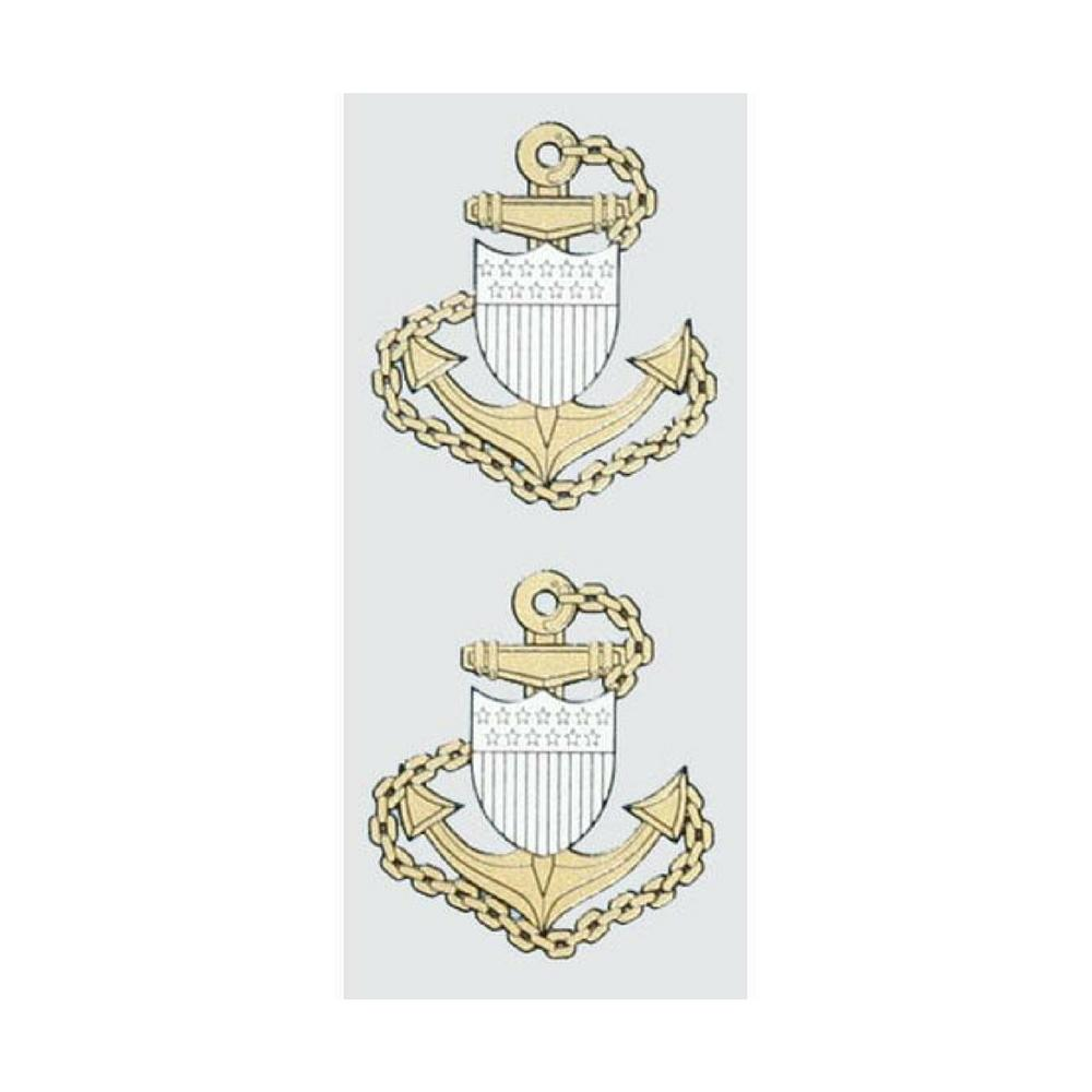 Chief Petty Officer E-7 2-Piece Decals-Military Republic