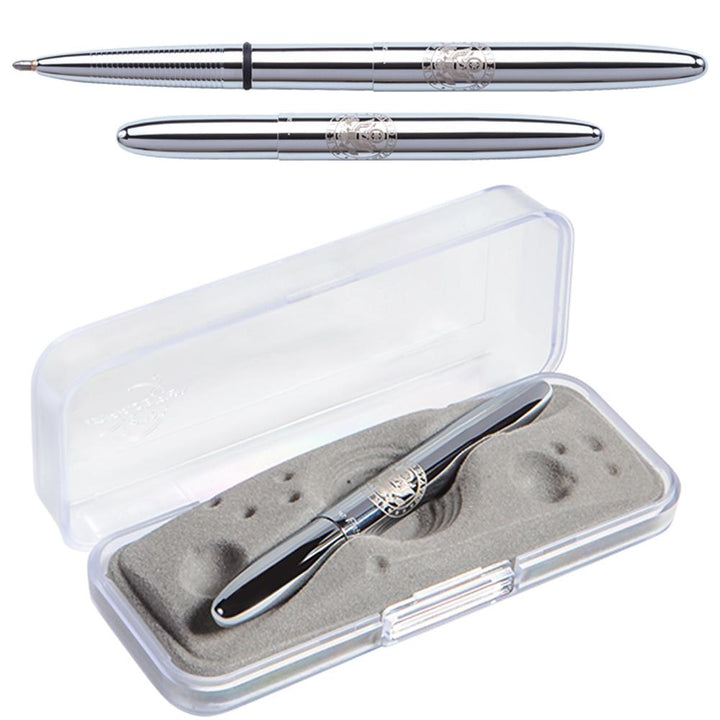 Chrome Bullet Space Pen with U.S. Army Insignia