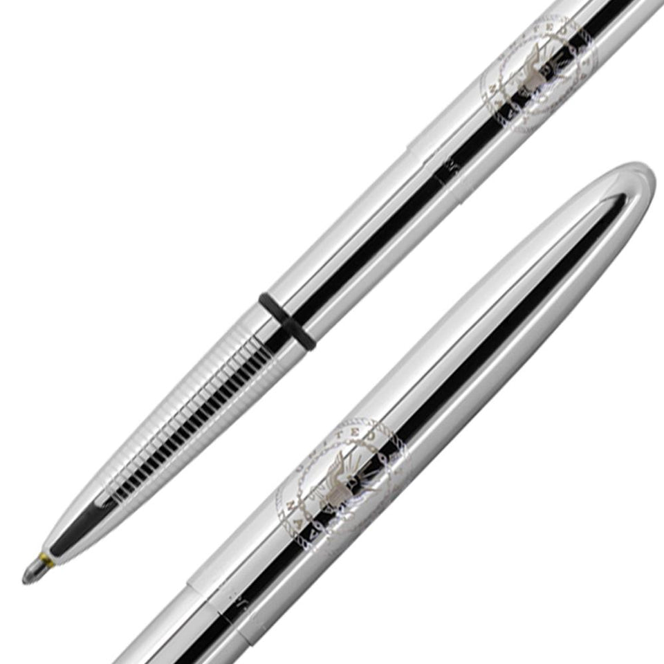 Chrome Bullet Space Pen with U.S. Navy Insignia