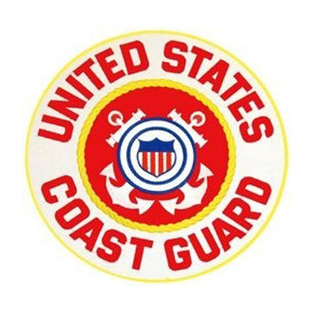 Coast Guard Rocker Back Patch 10""